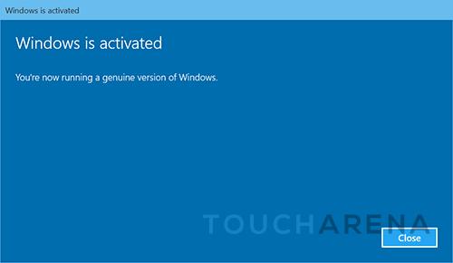 activate windows 10 settings