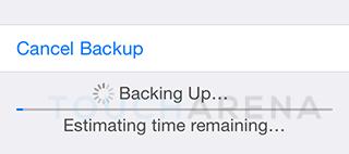 backup iphone icloud