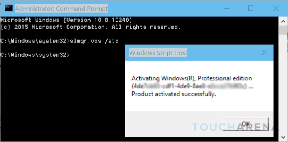 get windows activation key cmd
