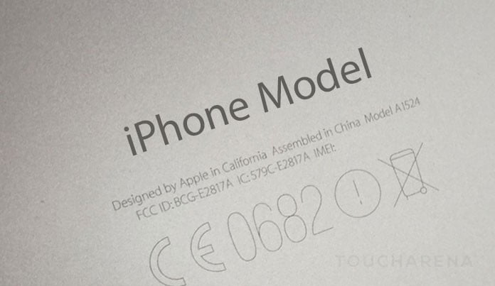 check iphone model number
