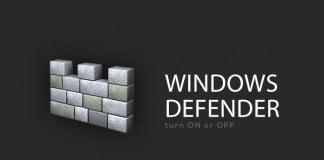 turn on off windows defender