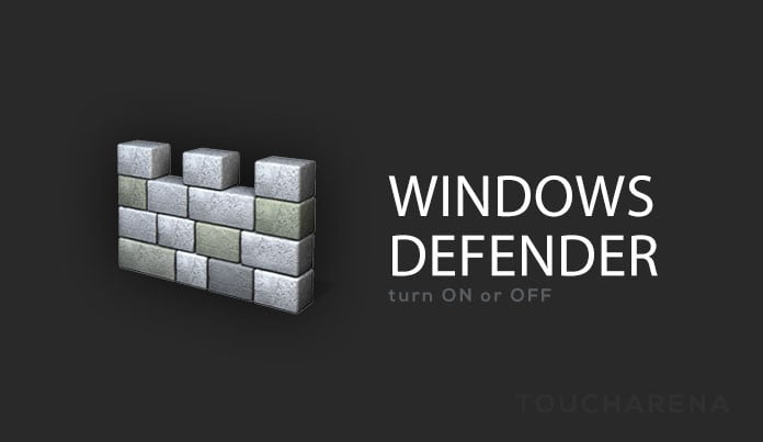 turn on off windows defender
