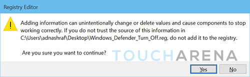 turn windows defender on off