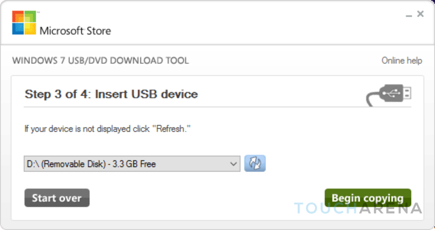 How to make windows 10 bootable usb flash drive touch arena for Window usb tool