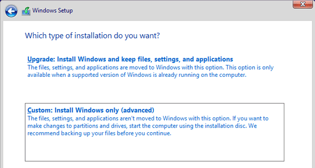 windows 10 custom install