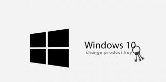 windows 10 change key