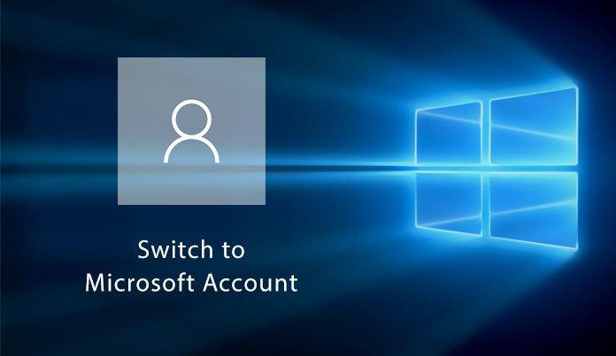 switch microsoft account 10