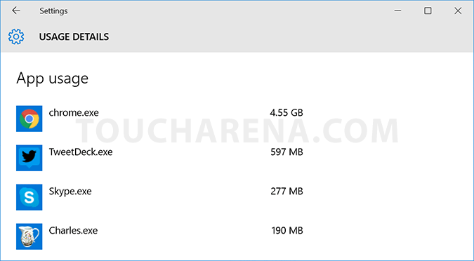 monitor data usage windows 10
